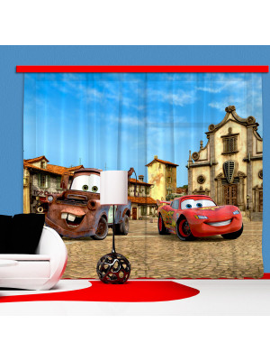 Rideaux Cars Flash McQueen & Martin Disney - Occultant : 280x245 cm