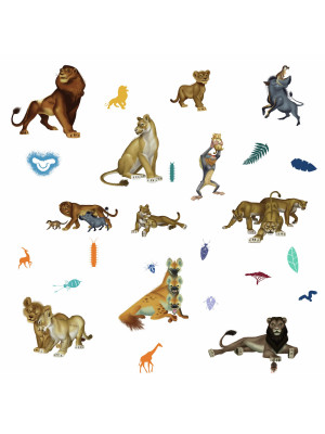 26 Stickers Film Le Roi Lion Disney