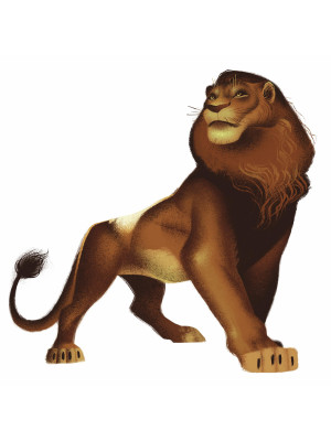 Sticker Geant Simba Film Le Roi Lion Disney 64 X 66 Cm