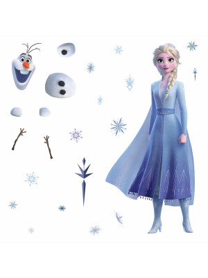 Stickers géant Elsa & Olaf La Reine des Neiges 2 Disney