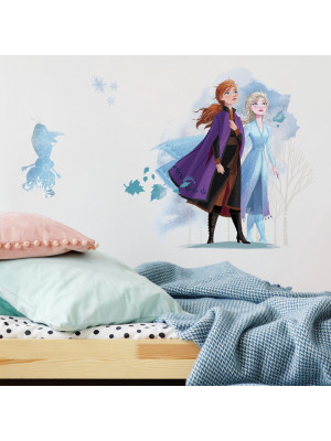 Stickers Elsa, Anna et Olaf La Reine des Neiges 2 Disney Aquarelles