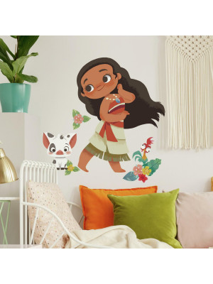 Sticker géant repositionnable Vaiana Vintage DISNEY - 48,7 cm x 63,5 cm