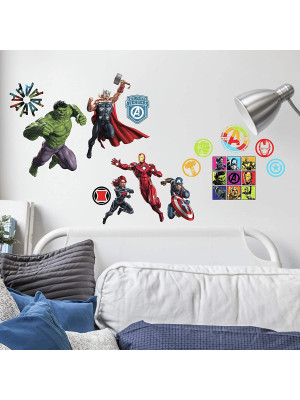 26 Stickers Super Héros Disney Marvel Avengers repositionnables 20 CM X 25 CM