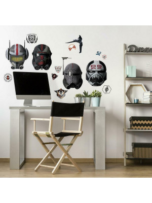 Stickers repositionnables Star Wars série Bad Batch casques
