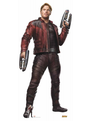 Figurine en carton taille réelle Star-Lord Avengers Infinity War H 191 CM