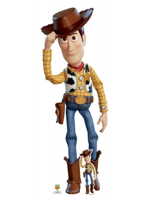 Figurine en carton taille réelle Woody Cowboy  Toy Story 4 H 162 CM