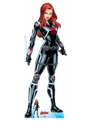 Figurine en carton taille réelle Black Widow Comics Disney H 165 CM
