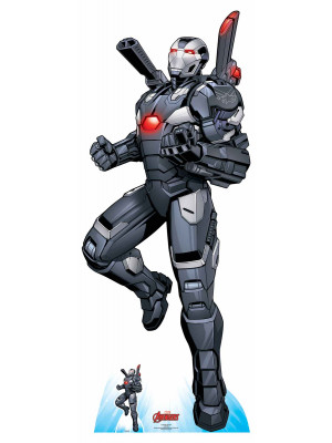 Figurine en carton taille réelle War Machine Comics Disney H 194 CM