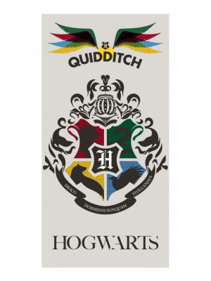 Serviette de bain Harry Potter Quidditch Poudlard - 140 cm x 70 cm