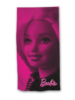 Serviette de plage - barbie rose - 70 cm x 140 cm