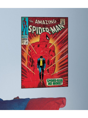 "Sticker poster Spider-man ""no more"" Marvel Comics"