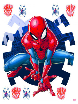 Stickers géants Spiderman  New Generation Disney Marvel 85X65 cm