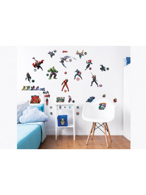 47 Stickers Avengers Marvel Walltastic