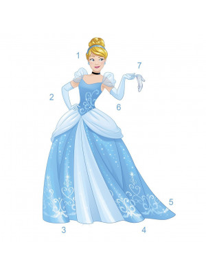 Sticker géant Scintillant Princesse Cendrillon Disney