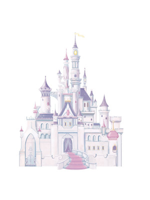 Stickers Château Belle au bois Dormant Princesse Disney