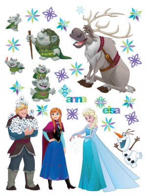 Stickers géants La Reine des Neiges Frozen Disney