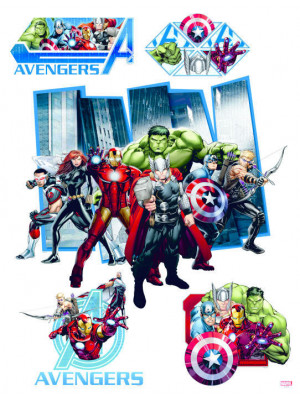 Stickers géant Avengers Assemble Marvel 85x65 CM
