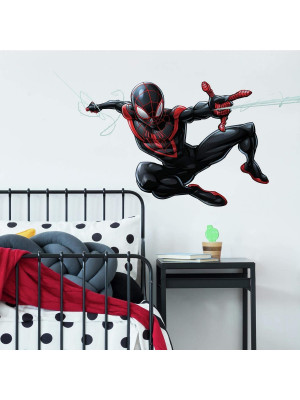 Sticker Géant Disney Spiderman Miles Morales repositionnables 104 CM X 50 CM