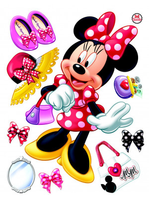 Stickers géant La Boutique de Minnie Mouse Disney