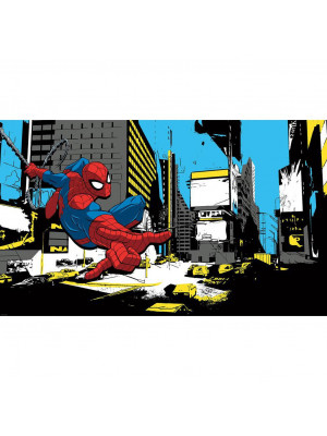Poster sticker géant Spider-Man Marvel L 152 cm H 91 cm