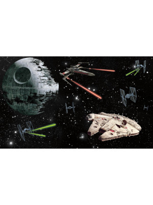 Poster sticker géant panorama Star Wars Classic L 152 cm H 91 cm