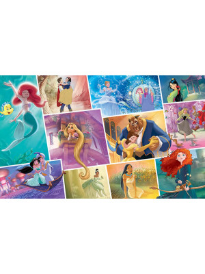 Poster sticker géant Storybook Princesses Disney L 152 cm H 91 cm