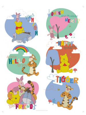 Stickers géant Bébé Winnie l'Ourson Disney