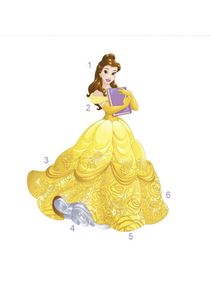 Stickers Princesse Belle Disney