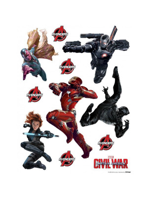 Stickers géant Civil War Captain America Marvel