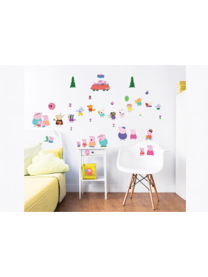 39 Stickers Peppa Pig Walltastic