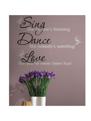 "Stickers citation ""Sing, Dance, Love"" Roommates"
