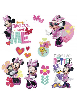 9 Stickers Minnie Mouse 3D Disney