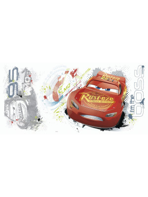 Sticker géant repositionnable Cars avec Flash McQueen de Disney 92,7CM X 43,8CM