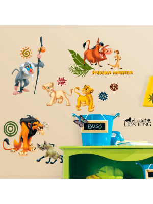 48 Stickers Le Roi Lion Disney