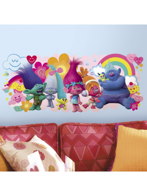 Stickers géant Les Trolls Love
