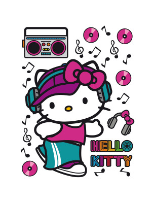 Stickers géant Hello Kitty Street Sanrio
