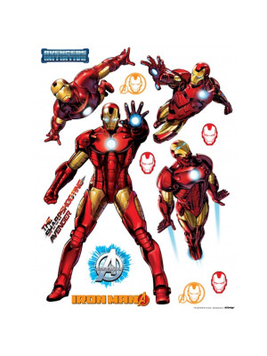 Stickers géant Iron Man Marvel Postures