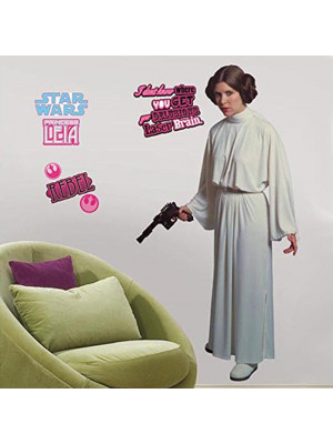 Stickers Géant Princesse Leia Star Wars