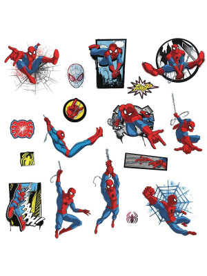 Stickers Avengers repositionnables Spider-man Marvel 25,4CM X 45,7CM