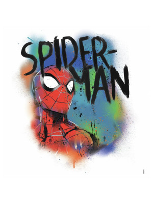 Sticker Avengers repositionnable Spider-man Graffiti Marvel 46,4CM X 43,8CM