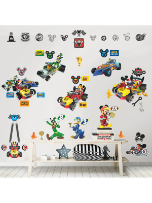 74 Stickers Mickey Mouse Roadster Racers Disney Walltastic