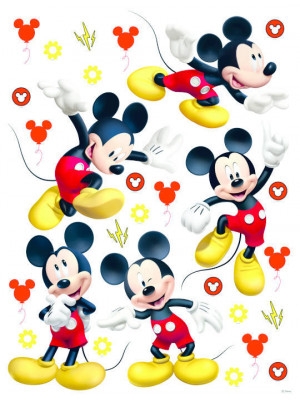 Stickers géant Mickey Mouse Postures Disney 85 cm x 65 cm