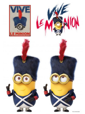 Stickers geant France Les Minions