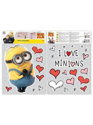 Stickers geant Love Les Minions
