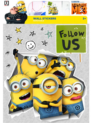 Stickers geant Illusion Les Minions