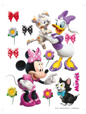 Stickers géant Minnie et Daisy animaux Disney