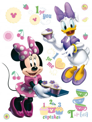 Stickers géant Minnie et Daisy Disney