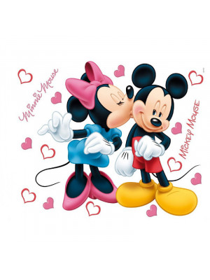 Stickers géant Mickey et Minnie Disney 42.5 x 65cm