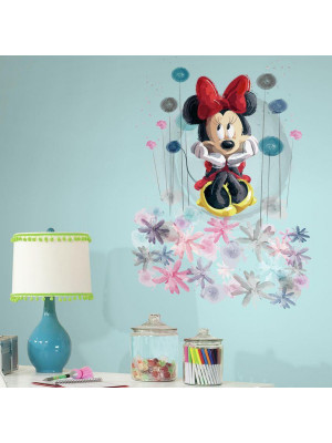 Stickers géant Minnie Mouse Floral Disney