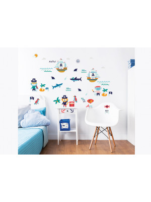 41 Stickers Enfant Pirates Walltastic